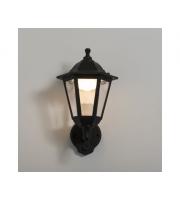 KSR Lighting Bastia 8w 3000K LED PIR 6 sided Lantern Black