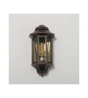 KSR Lighting Rio E27 Flush Wall Lantern with Clear Diffuser Antique Bronze