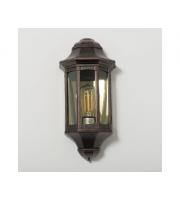 KSR Lighting Majorca E27 Flush Wall Lantern with Clear Diffuser Antique Bronze