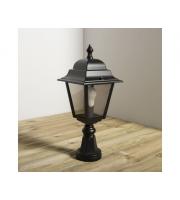 KSR Lighting Nizza E27 Pillar Lantern (Black)