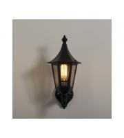 KSR Lighting Oslo E27 Upward Wall Lantern (Black)