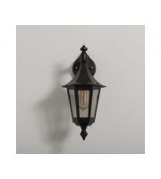 KSR Lighting Oslo E27 Downward Wall Lantern (Black)