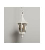 KSR Lighting Oslo E27 Hanging Lantern (White)