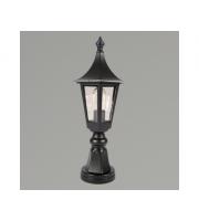 KSR Lighting Oslo E27 Pillar Lantern (Black)