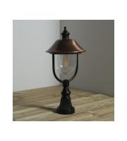 KSR Lighting Romantica E27 Pillar Lantern (Black)/Copper