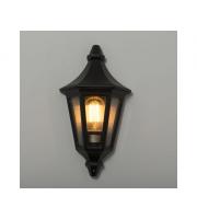 KSR Lighting Morelia E27 Half Wall Lantern (Black)