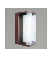 KSR Lighting Hector 23w E27 IP44 Wall Lantern Rusty Brown