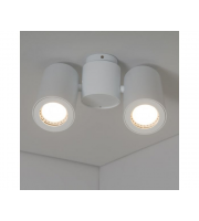 KSR Lighting Barro II GU10 Twin Spotlight (White)