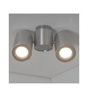 KSR Lighting Barro II GU10 Twin Spotlight Polished  (Aluminium)