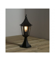 KSR Lighting Coria E27 Pillar Lantern (Black)