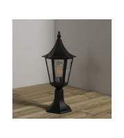 KSR Lighting Coria Grande E27 Pillar Lantern (Black)