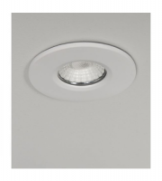 KSR Lighting Firebreak QR10 8.8w 3000K LED Dimmable Downlight (White)