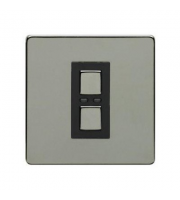 LightwaveRF 250W 1 Gang 2 Way Slave Dimmer Switch (Black)
