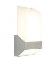 Lutec Flat Wall Light 3000K IP44 (Steel)