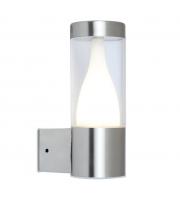 Lutec Virgo Wall Light 3000K IP44 (Steel)