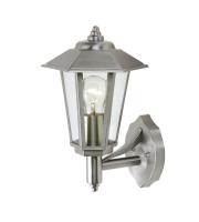 Lutec Grosvenor Wall Light E27 IP44 (Steel)