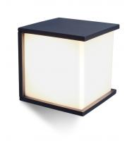 Lutec Box Cube Wall Light E27 IP44 (Grey)