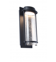 Lutec Aquarius Wall Light 3000K IP44 (Black)