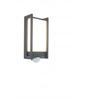 Lutec Qubo Wall PIR  3000K IP54 (Grey)