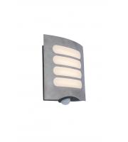 Lutec Farell Wall PIR  3000K IP44 (Steel)