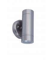 Lutec Rado Ss Wall Up & Down GU10 IP44 (Steel)