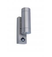Lutec Rado Ss Wall Up & Down PIR GU10 IP44 (Steel)