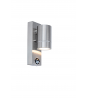 Lutec Rado Ss Wall Down PIR GU10 IP44 (Steel)