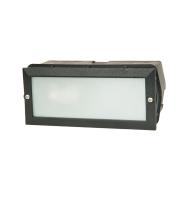 Lutec Gemma Wall Light E27 IP44 (Black)