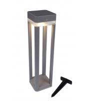 Lutec Table Cube Outdoor Bollard 3000K IP44 (Silver)
