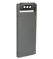 Lutec Bollard Light Heavy-duty Aluminium Clear Glass 9W 605L