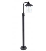 Lutec Bollard Light Heavy-duty Aluminium Clear Glass 60W SUBJECT TO LAMP USEDL