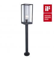 Lutec Flair Wall Light E27 IP44 (Black)