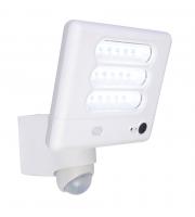 Lutec Esa Wall PIR Camera 5000K IP54 (White)