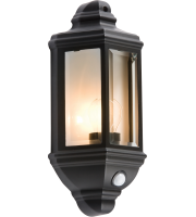 ML Accessories IP33 Wall Lantern with PIR (Black)
