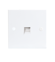 ML Accessories Flush Telephone Extension Socket x 10 Pack (White)