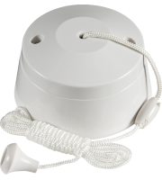 ML Accessories 6A 2 Way Pull Cord Switch (White)