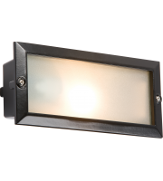 ML Accessories IP44 E27 Bricklight with Plain & Louvred Cover (Black)