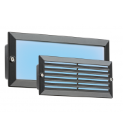 ML Accessories IP54 5W Blue LED Recessed Brick Light (Black)