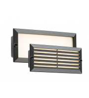 ML Accessories IP54 5W White LED Recessed Brick Light (Black)