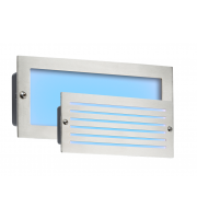 ML Accessories IP54 5W Blue LED Recessed Brick Light (Brushed Steel)