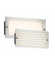ML Accessories IP54 5W White LED Recessed Brick Light (Brushed Steel)
