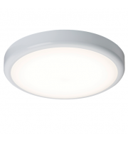 ML Accessories IP44 14W Dimmable LED Flush Bulkhead with Sensor (White)