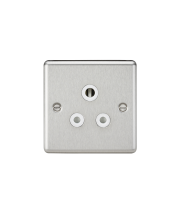 ML Accessories Rounded Edge 5A Unswitched Socket (Brushed Chrome)