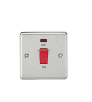 ML Accessories 45A DP Switch with Neon (Brushed Chrome)