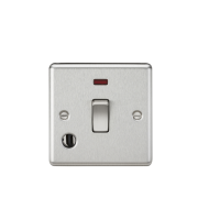 ML Accessories 20A 1G DP Switch with Neon & Flex Outlet (Brushed Chrome)