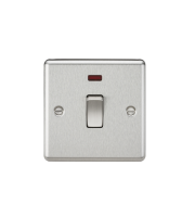 ML Accessories 20A 1G DP Switch with Neon (Brushed Chrome)