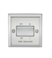 ML Accessories 10A 3 Pole Fan Isolator Switch (Polished Chrome)