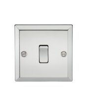 ML Accessories 10A 1G 2 Way Plate Switch (Polished Chrome)