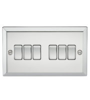 ML Accessories 10A 6G 2 Way Plate Switch (Polished Chrome)