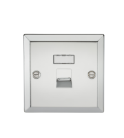 ML Accessories RJ45 Network Outlet (Polished Chrome)